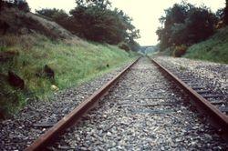 Brownhills trackbed after closure