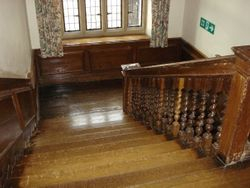 The front staircase