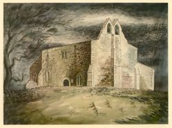A drawing image of Faxton Church