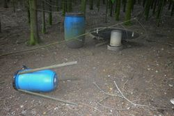 A weird trap in the woods