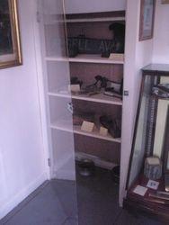 Military Room display case