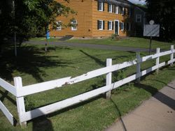 Damaged fencing before project