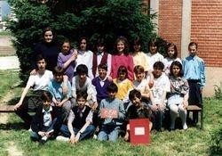 Jela (Vasic) sa generacijom djaka 1991.