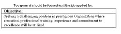 Objective in a CV