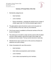 Club Rules Page 1
