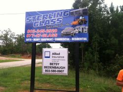 Sterling Glass LLC Shop Sign
