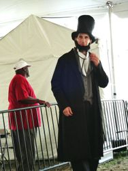 as President Abraham Lincoln