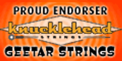 Knucklehead guitar string endorsement banner...