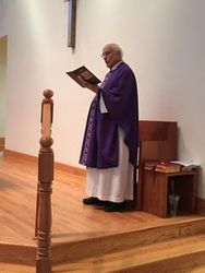 Former Pastor at St. Mary?s, Father Frank Ruff,  returns to celebrate mass February 24 & 25, 2018