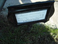 Manufactured marker placed at 36 186