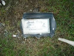 placed on the ground near actual grave