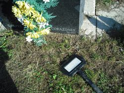 Mothers grave with another poor victim marker thrown about cemetery