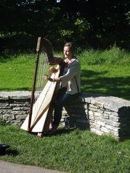 Harpist at Blarney Castle.