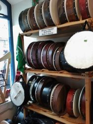 Inside one of the many music shops in Galway City.