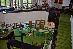 Blick auf die Cafeteria