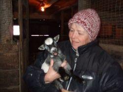 Linda and pygmy goat
