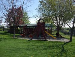 playground and picnic shelter