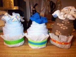 Onesie cupcakes set of 3