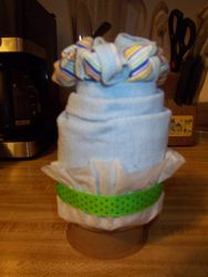 One of 3 of a set of onesie cupcakes