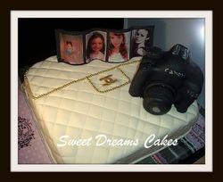 chanel/fototoestel taart