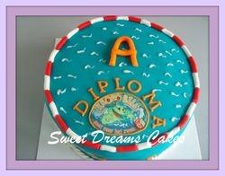 diploma A taart
