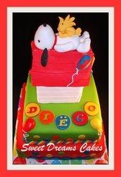 Snoopy & Woodstock taart