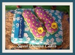 zomer taart/flip flops taart