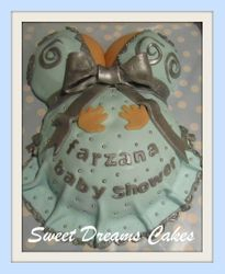 baby shower blauw chic