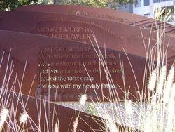 Ruse's grave stone wording.