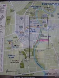 Map of Parramatta
