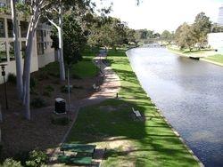 Aboriginal path follows the flat river