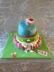 Topsy Turvy cupcake taart
