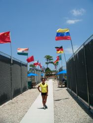 Me By The Flags!