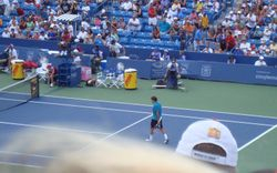 Roger Federer Playing His Match!!!!
