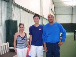 Mom, Kei Nishikori, & Dad