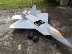 a project plane  f-22