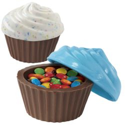 3D candy filled Chocolate cupcake