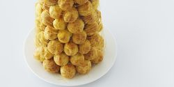Tower of Cream puffs with Caramel drizzel