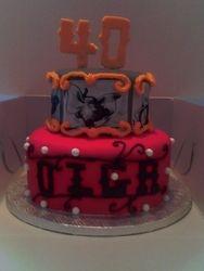 2 tier Dumbo birthday cake