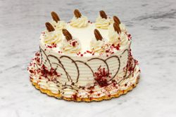 Red Velvet topped with Pecans