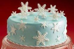 Let It Snow Cake