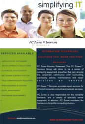 Folder for PCZones IT Services (Back)