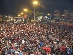 Multidão na festa da Luz 2011