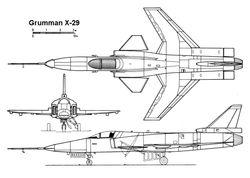 Grunman X-29 FSW