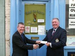 George Pickles when Hornblower fund raising