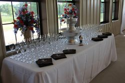 Champagne Fountain and Flutes