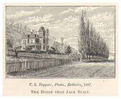 The land of The Bellaire House & the Home of Jacob Hearherington & his daughter Eliza