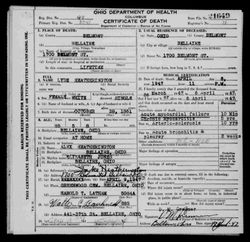 The death certificate of Eliza- bellaire rezoned and back then it was 1700 but today is 1699.