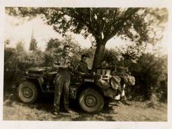 Lt. Prahl with the HQ Jeep Virgie