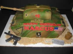 Marcus's Army Tank Cake